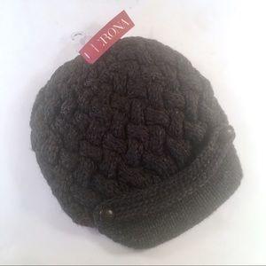 MERONA Knit Beanie Winter Hat Charcoal Gray